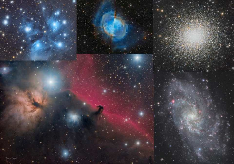 Deep Space Objects Collage