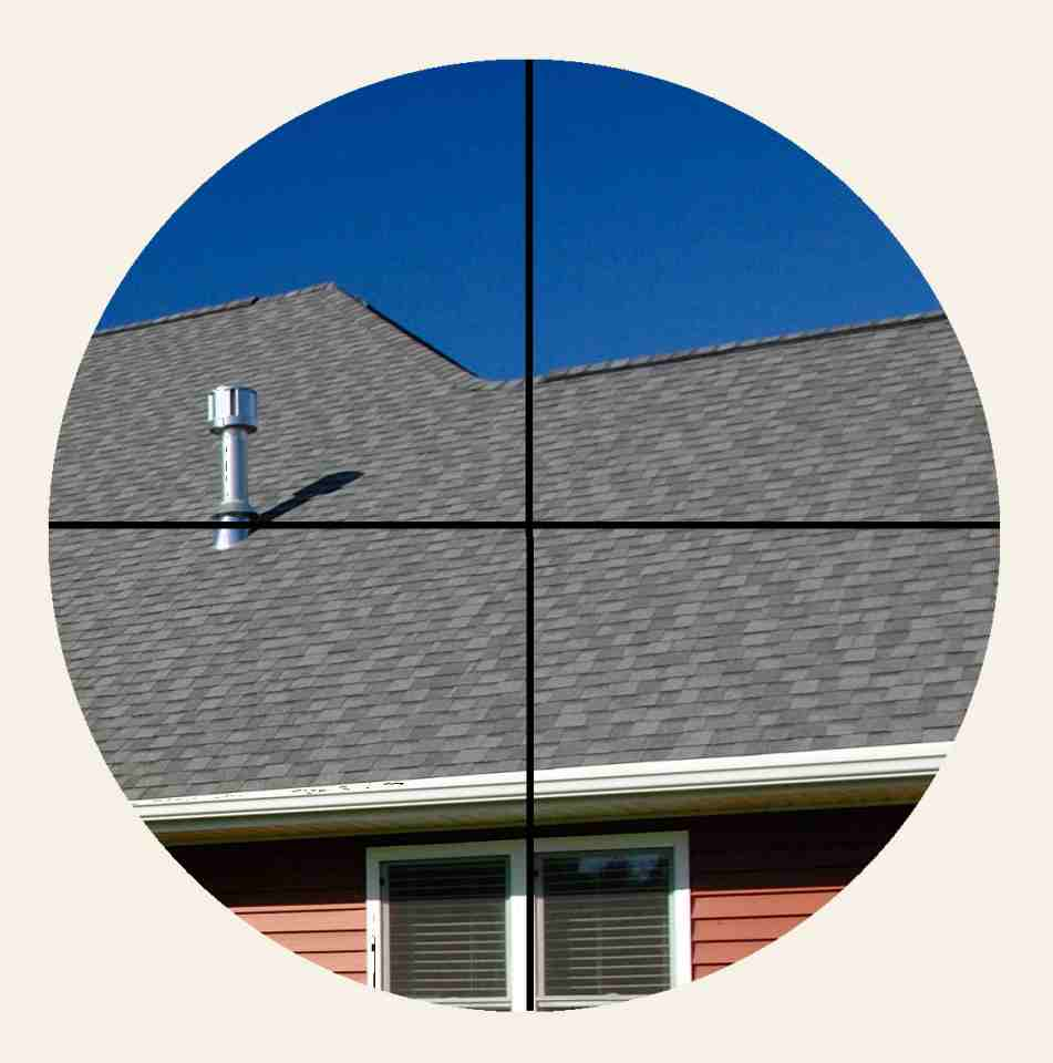 Chimney flue not in the finder scope crosshairs. MAS image.