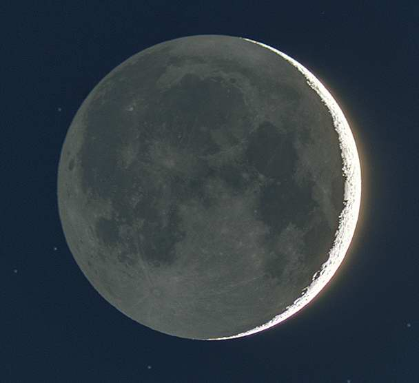 Waxing Crescent Moon - 47 hours old by John Asztalos. MAS image.