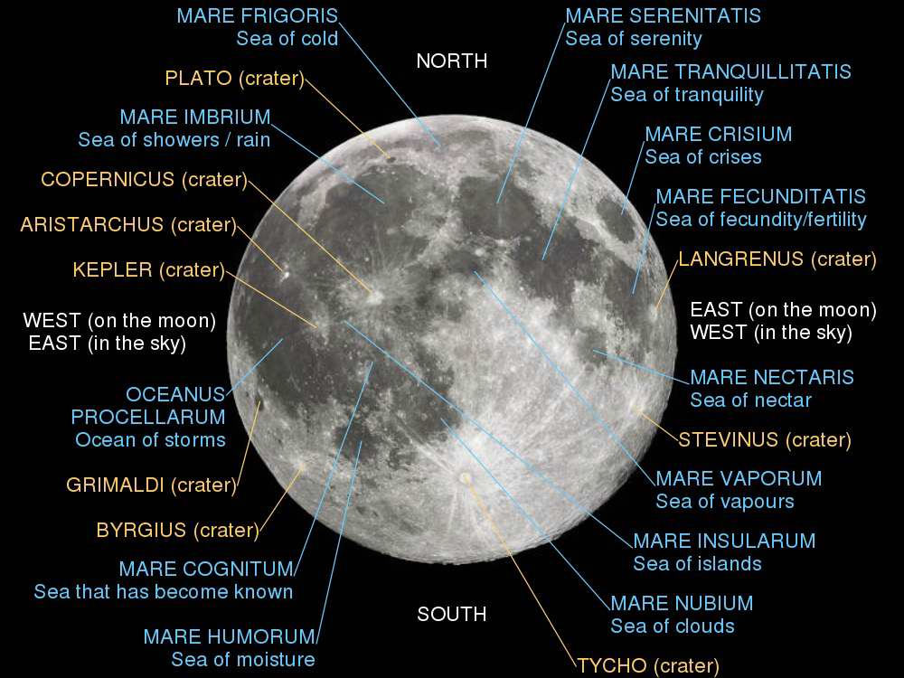 Lunar Features - Wikipedia Commons