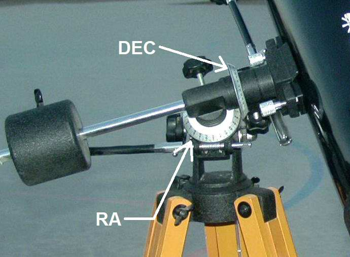 Setting Circles on a small telescope. MAS image.