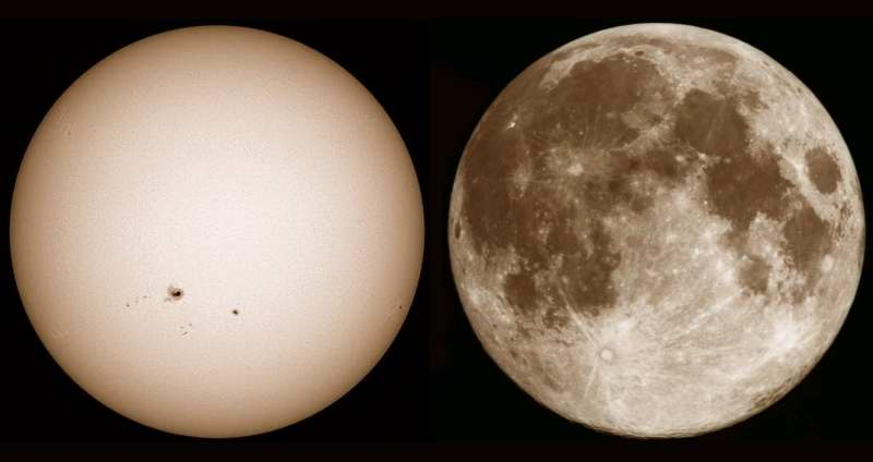 The Sun and Moon - MAS images