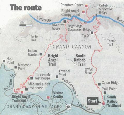Grand Canyon Route Map